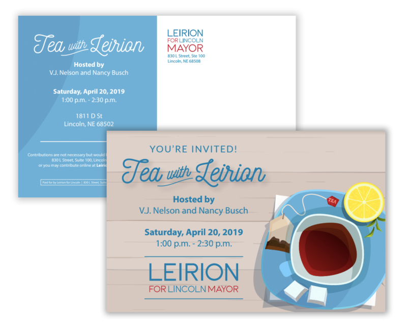 Tea with Leirion postcard
